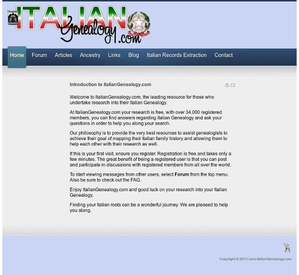 Italian Genealogy.com