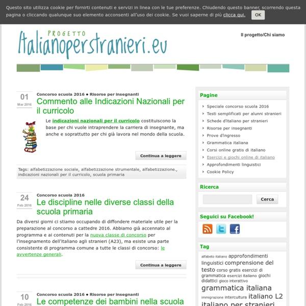 Italiano per Stranieri - Risorse didattiche di Italiano per Stranieri