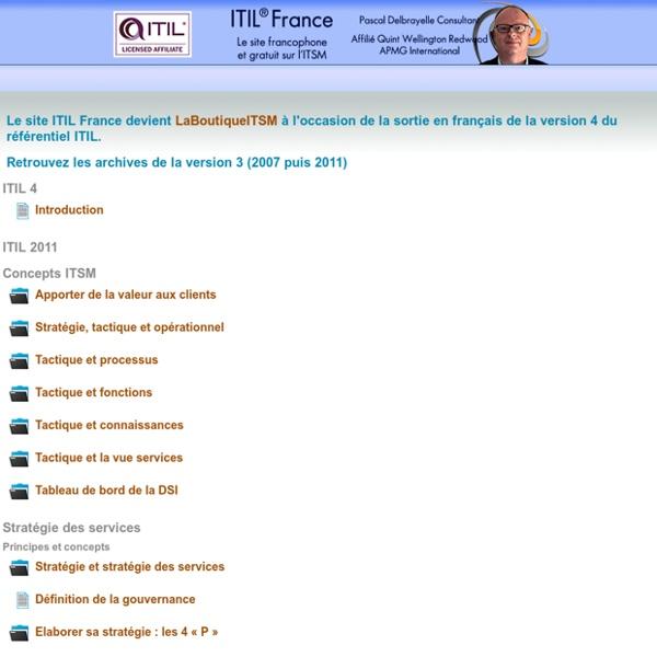 ITIL France - Le site francophone et gratuit sur ITIL