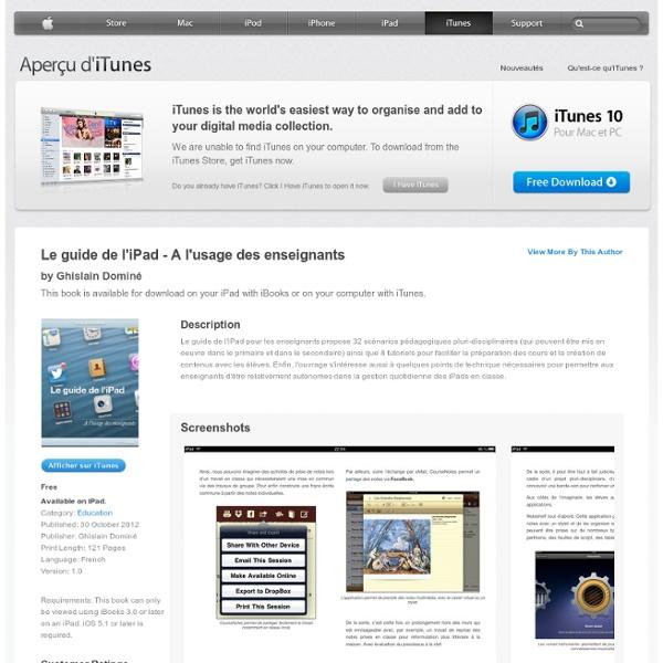 Books - Le guide de l'iPad - A l'usage des enseignants by Ghislain Dominé