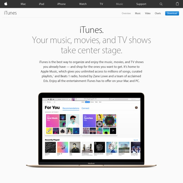 Apple – iTunes – Everything you need to be entertained.