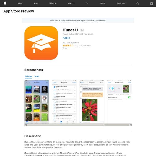 iTunes U on the App Store