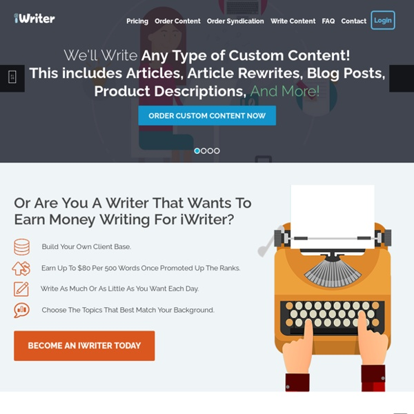 iWriter: Content & Article Writing Service - Buy Articles