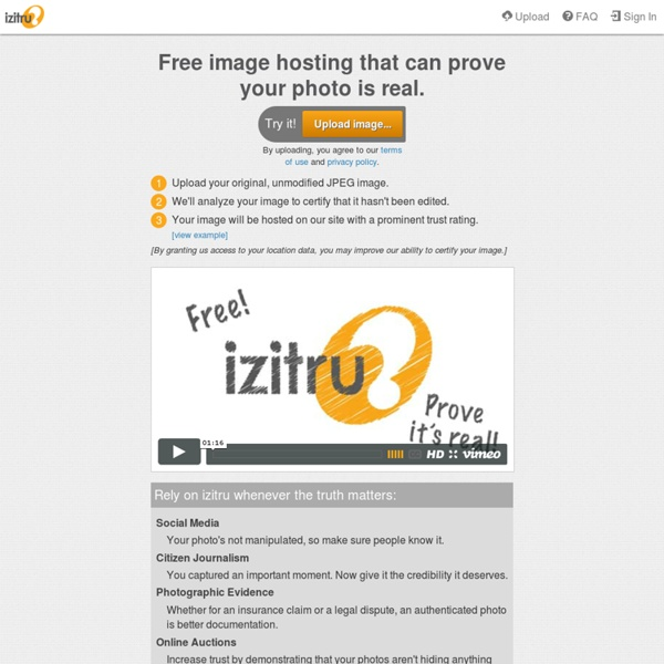 Izitru Trusted Photos