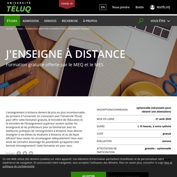 Université TÉLUQ - Formation à distance