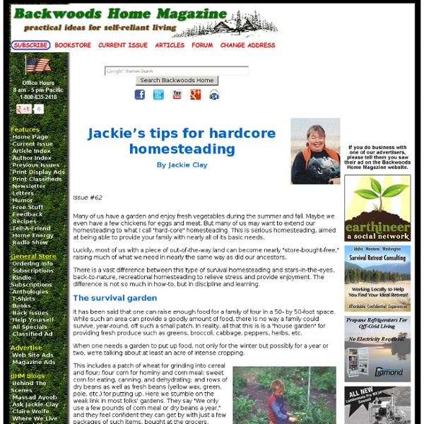 Jackie's Tips For Hardcore Homesteading By Jackie Clay