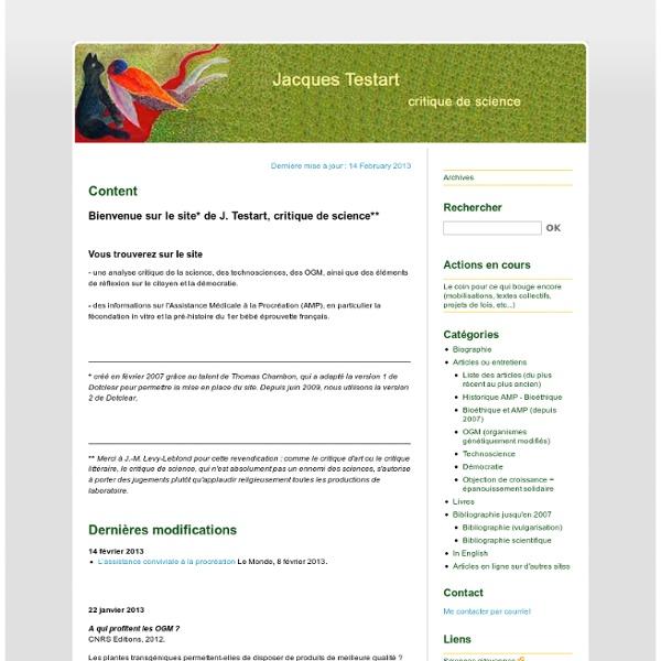 Site de J. Testart