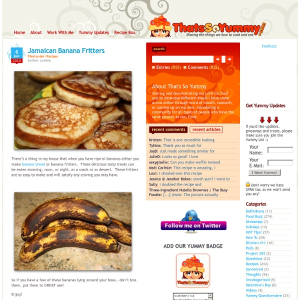 Jamaican Banana Fritters - ThatsSoYummy.com