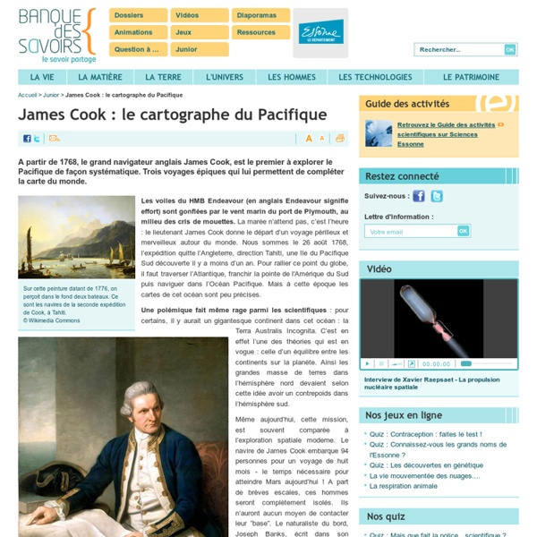 James Cook : le cartographe du Pacifique