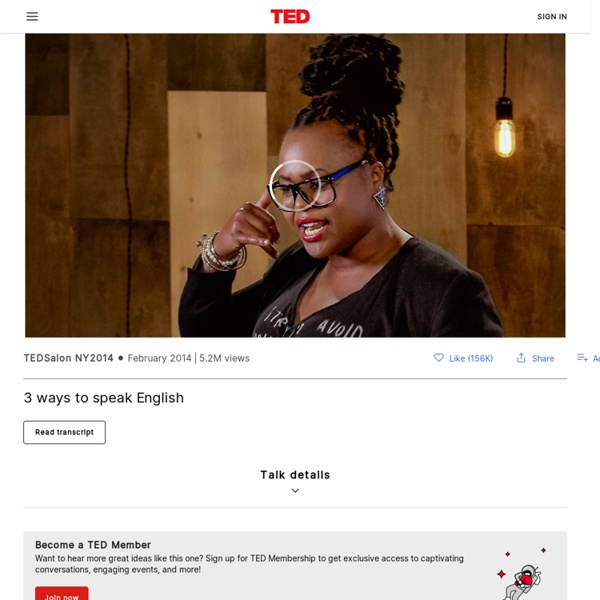 Jamila Lyiscott: 3 ways to speak English