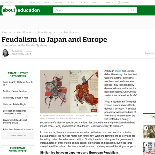 Japanese Feudalism and European Feudalism