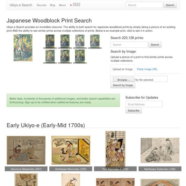 Japanese Woodblock Print Search - Ukiyo-e Search