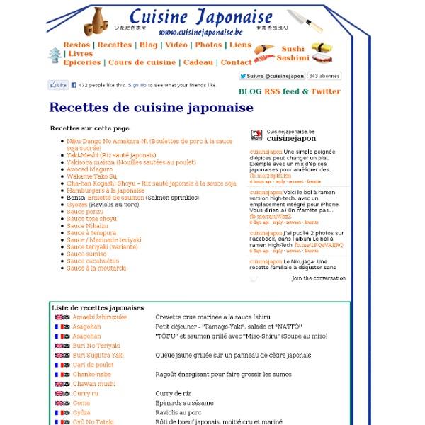 Recettes de cuisine japonaise
