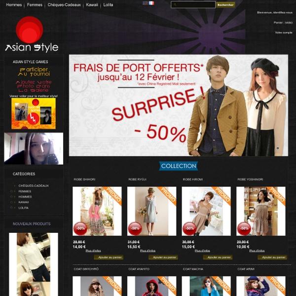 Mode japonaise et cor enne asian style boutique de v tements asiatique mod - Mode japonaise paris ...