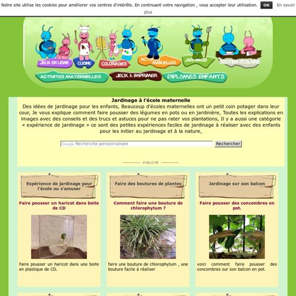 Jardinage à l'école pour les enfants