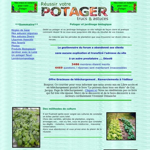 Jardinage Potager culture biologique