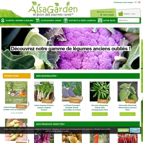 AlsaGarden - Boutique en ligne de Graines rares et insolites