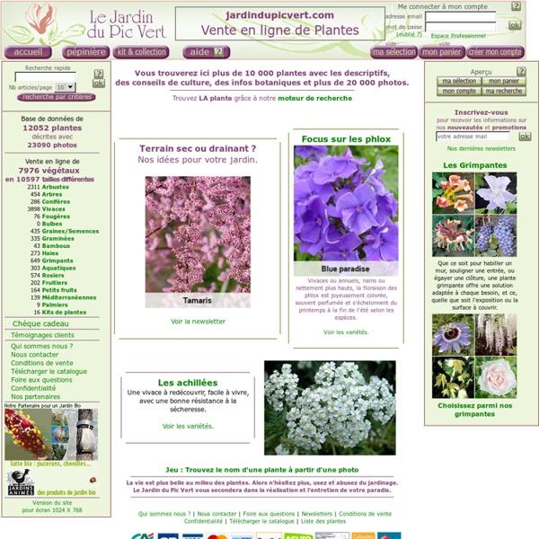 Jardin du pic vert reconnaissance des v g taux pearltrees for Plante 21 en ligne