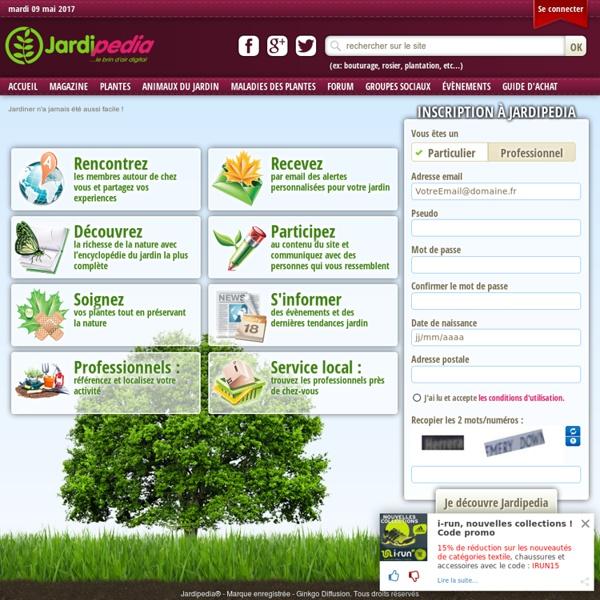 Découvrez toute l'information jardinage pour votre jardin sur Jardipedia
