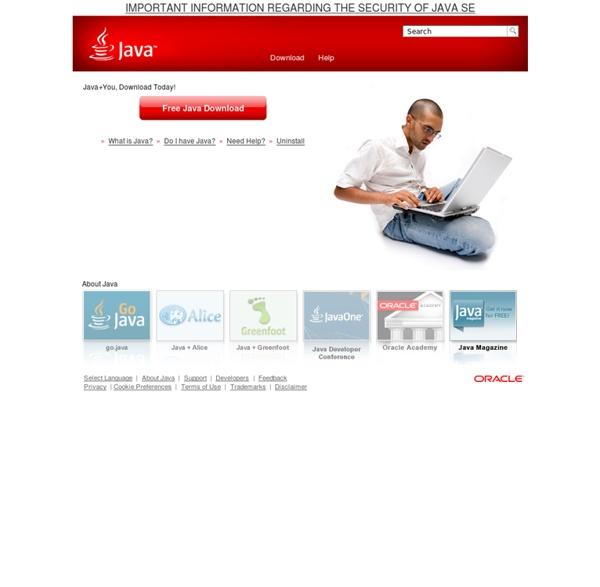 Java.com: Java + You