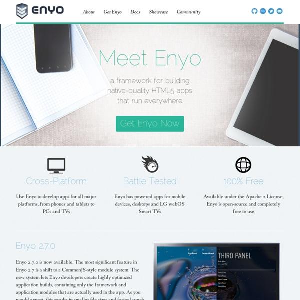 Enyo JavaScript Application Framework
