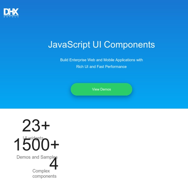 JavaScript UI Library, Ajax Components & HTML5 Framework - DHTMLX
