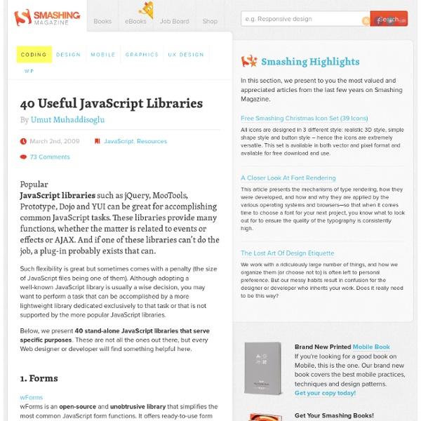 40 Useful JavaScript Libraries - Smashing Magazine