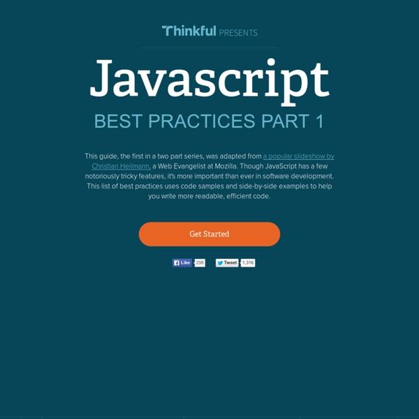 JavaScript Best Practices Part 1