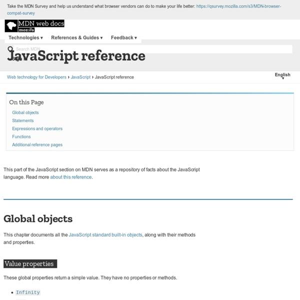 JavaScript reference - JavaScript