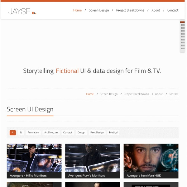 The Film UI and Screen Design work of Jayse Hansen