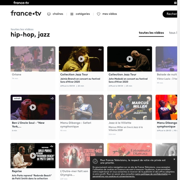 Hip-hop, jazz - Tous les replays et vidéos sur france.tv
