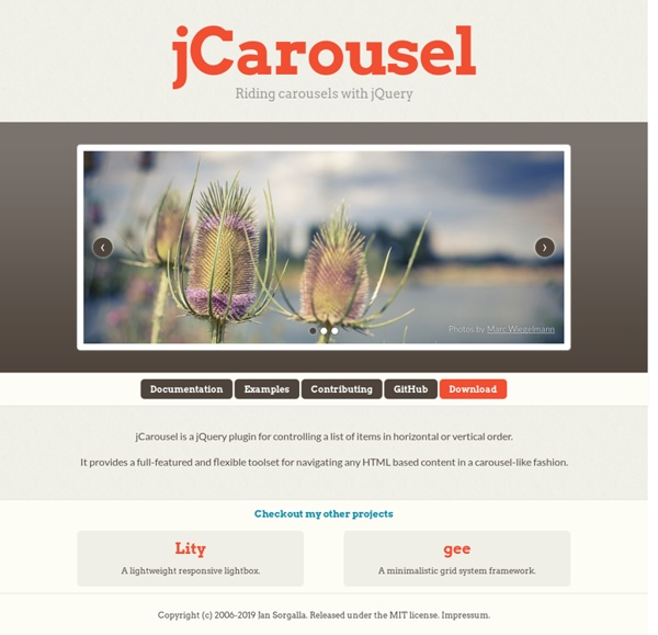 jCarousel - Riding carousels with jQuery