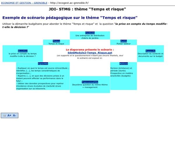 """JDI- STMG : thème """"Temps et risque"""""""