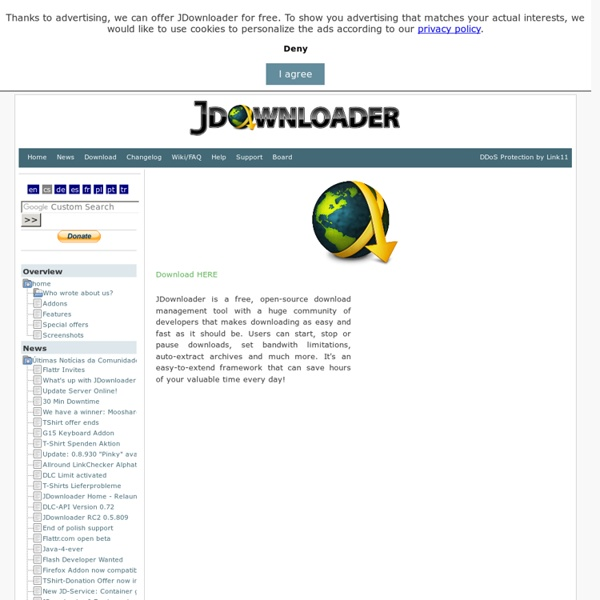 JDownloader.org - Official Homepage