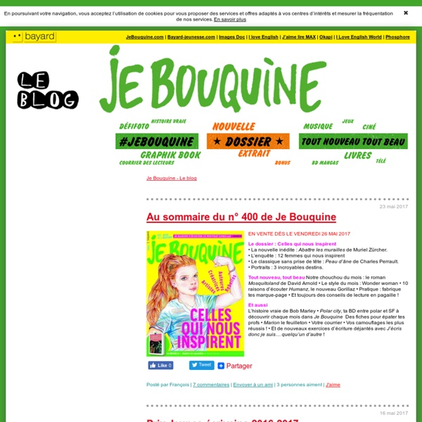 Je Bouquine – Le blog