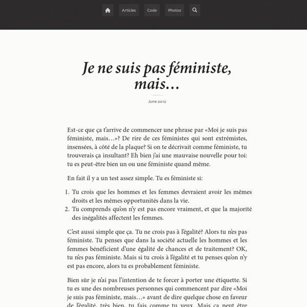 Moi je suis pas féministe, mais…