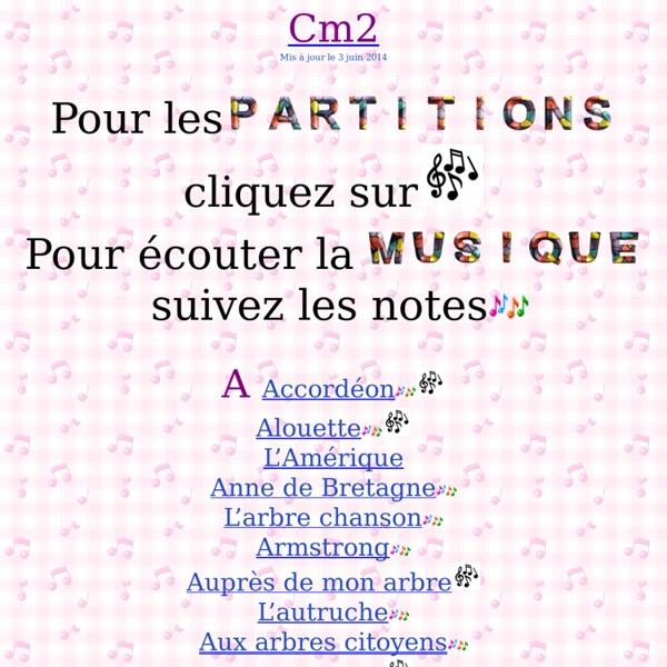 Chansons CM2