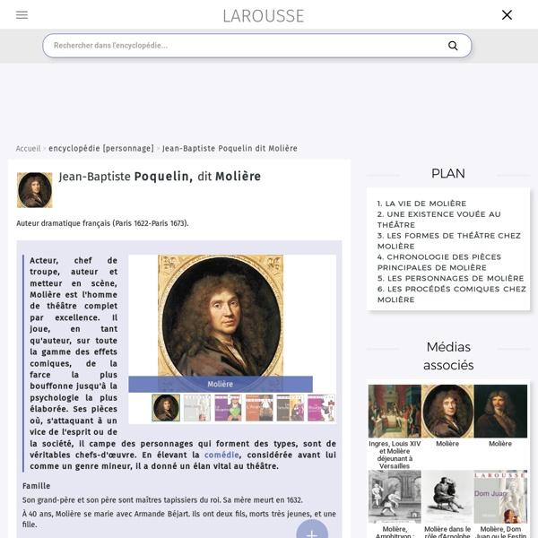 Les différentes comédies de Molière et ses cibles