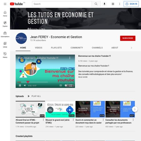 Jean FEREY - Economie et Gestion