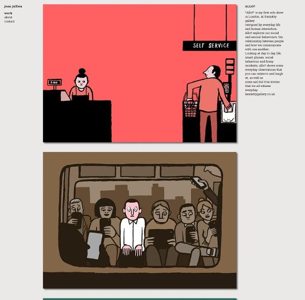 Jean Jullien's online portfolio: Allo?