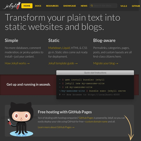 Simple, blog-aware, static sites - Transform your plain text into static websites and blogs