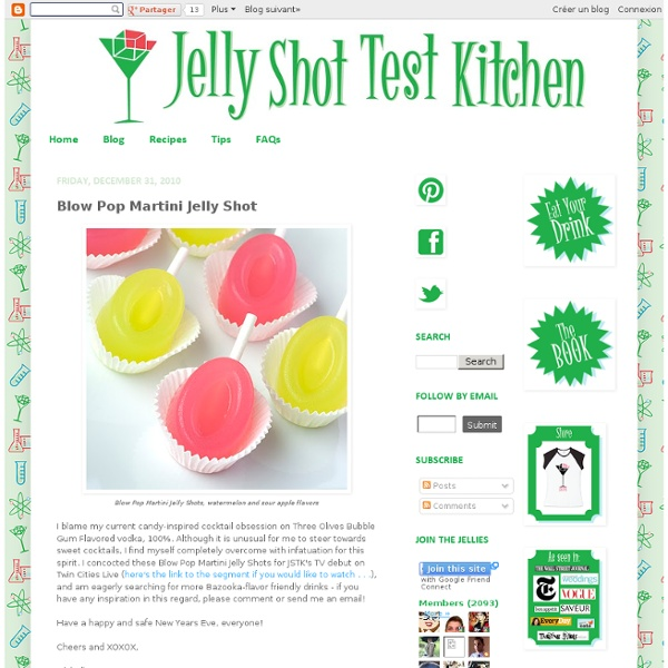 Blow Pop Martini Jelly Shot | Pearltrees