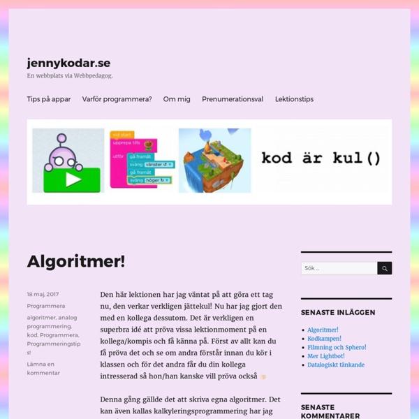Jennykodar.se – En webbplats via Webbpedagog.