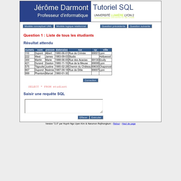 j233r244me darmont tutoriel sql pearltrees