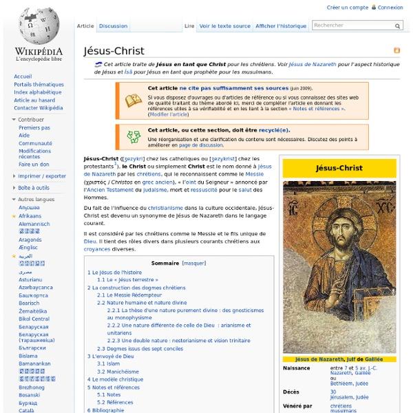 Jésus-Christ - Wikipédia - Nightly