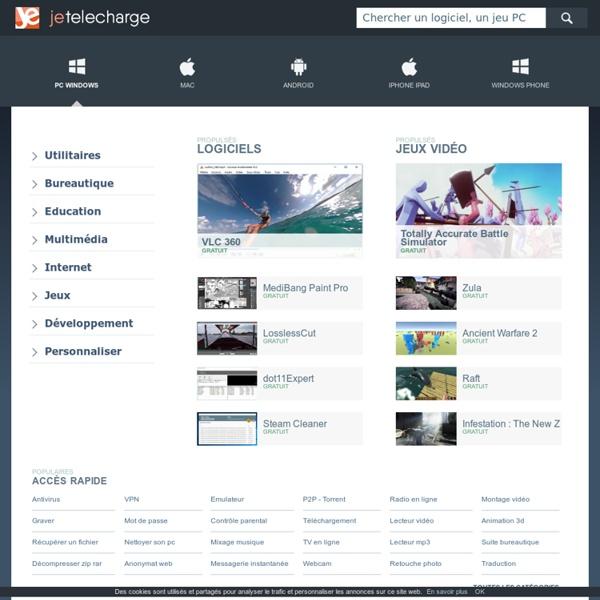 JeTelecharge - Telecharger gratuitement des logiciels et jeux