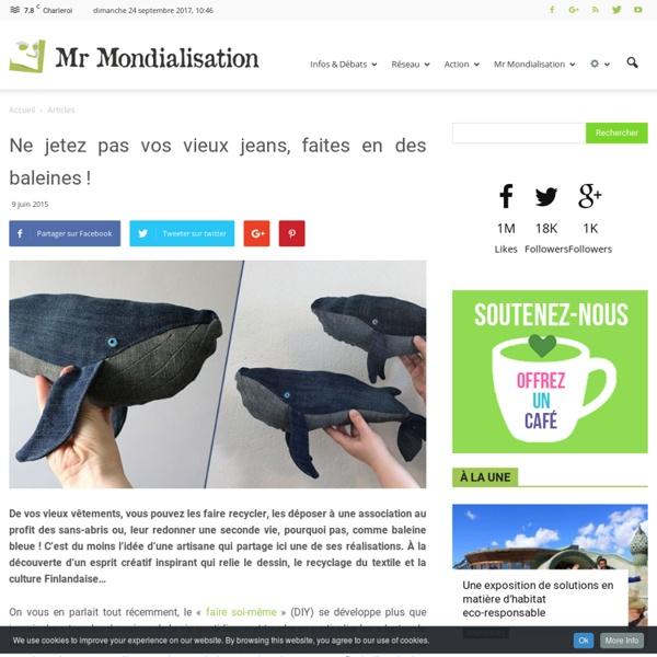 Ne jetez pas vos vieux jeans, faites en des baleines