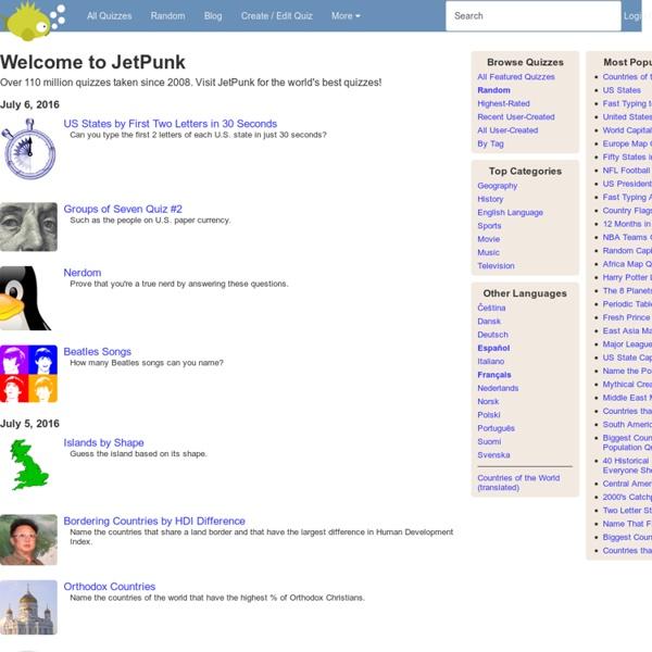JetPunk - World's Best Quizzes