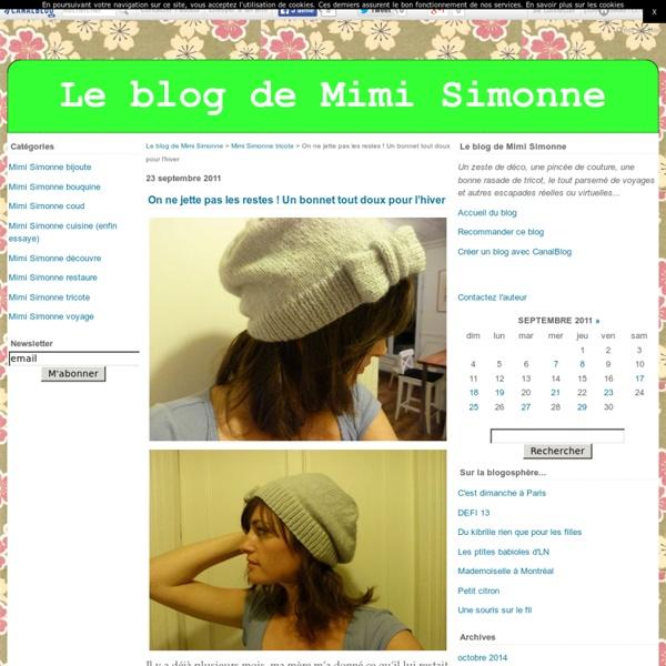 On ne jette pas les restes ! Un bonnet tout doux pour l'hiver - Le blog de Mimi Simonne