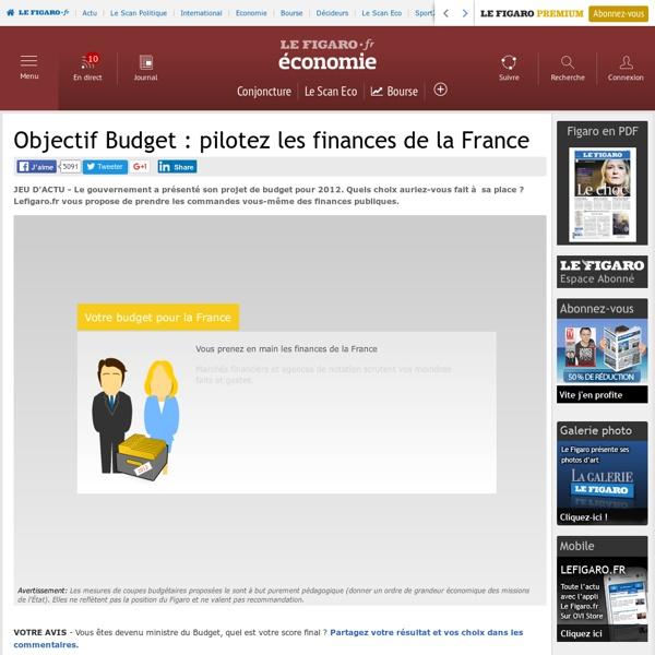 Jeu d'actu : Objectif Budget